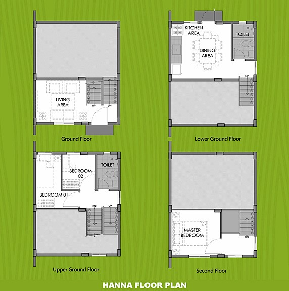 Hanna Floor Plan House and Lot in Pangasinan