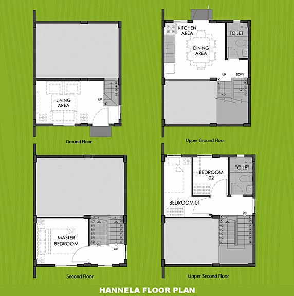 Hannela Floor Plan House and Lot in Pangasinan