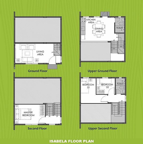 Isabela Floor Plan House and Lot in Pangasinan