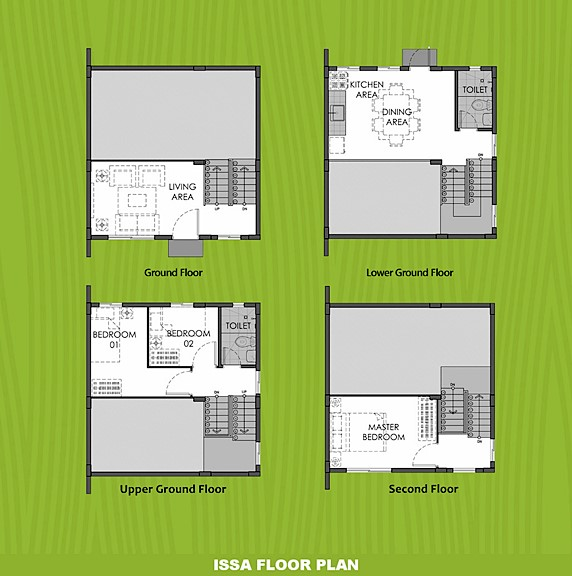 Issa Floor Plan House and Lot in Pangasinan