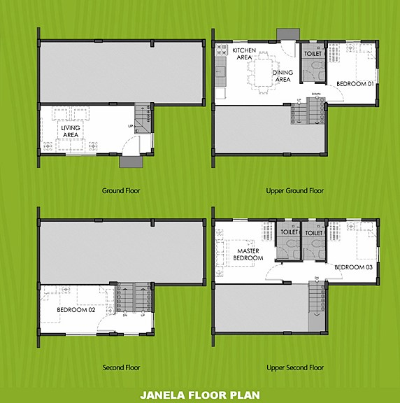 Janela Floor Plan House and Lot in Pangasinan