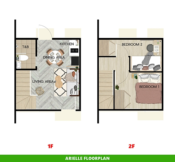Arielle Floor Plan House and Lot in Pangasinan