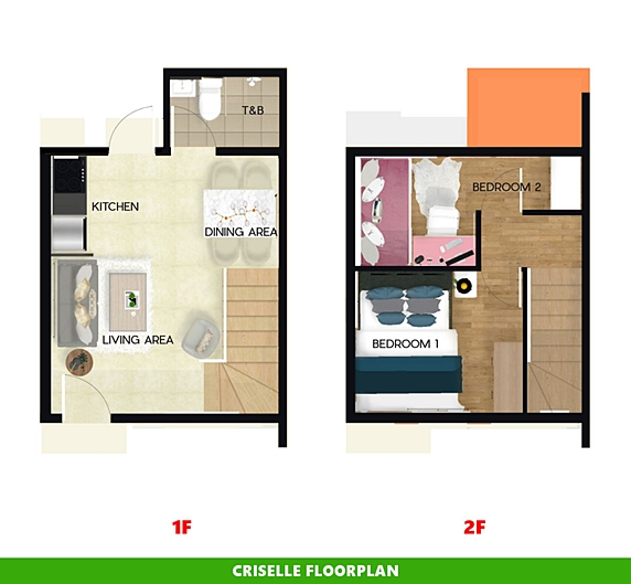 Criselle Floor Plan House and Lot in Pangasinan