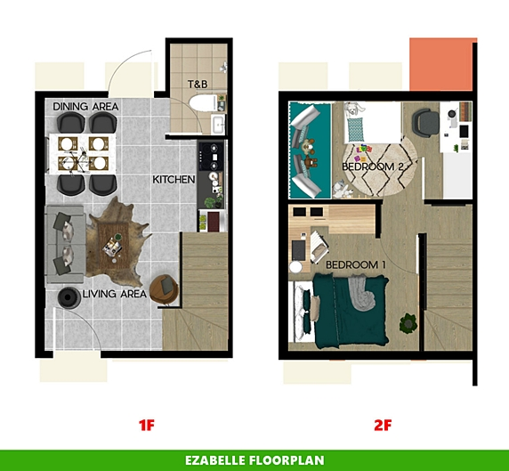 Ezabelle Floor Plan House and Lot in Pangasinan
