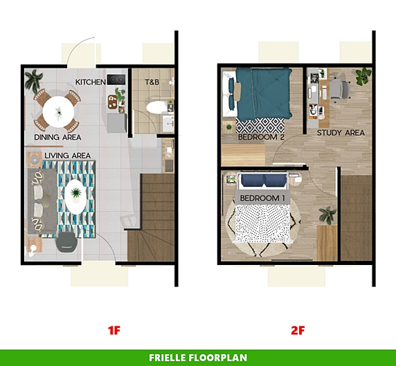 Frielle Floor Plan House and Lot in Pangasinan